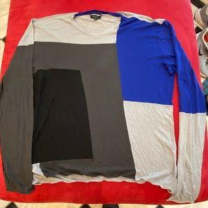 Giorgio Armani color block lightweight sweater